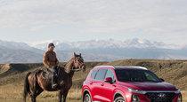 Тест драйв нового Hyundai Santa Fe  град на холме